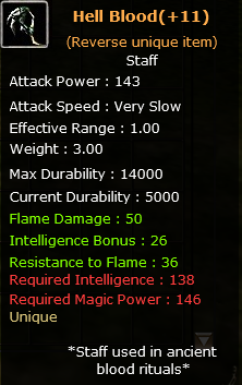 +11 Rev.  Hell Blood  (Unique item)