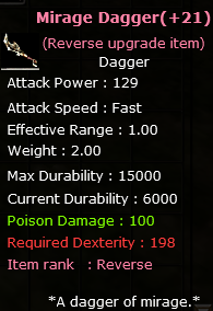 +21 Rev.  Mirage Dagger
