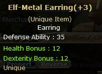 Dual  Elf-Metal Earring  (Unique item)