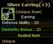 Dual  Silver Earring  (Unique item)